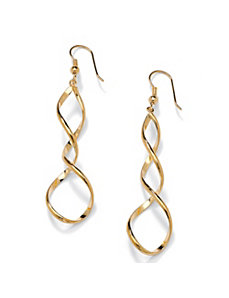 Loop Drop Pierced Earrings by PalmBeach Jewelry