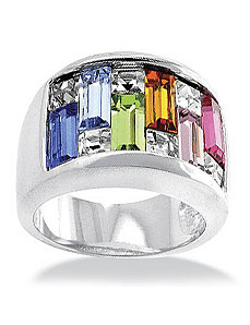 Silvertone Women's Ring by PalmBeach Jewelry