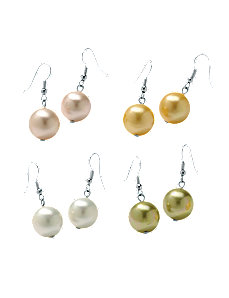 Set of 4 Pairs Pearl Earrings by PalmBeach Jewelry