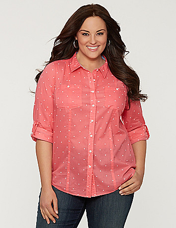 Polka dot buttondown shirt