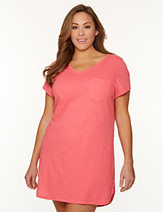 Slub sleep shirt by LANE BRYANT