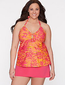 Mixed animal keyhole swim tank by COCOS Swim by LANE BRYANT