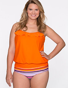 Blouson swim tank by COCOS Swim by LANE BRYANT