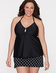 Halter tankini top by COCOS Swim by LANE BRYANT