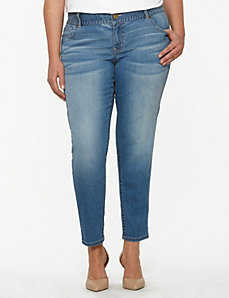 Genius Fit™ light wash skinny ankle jean by LANE BRYANT