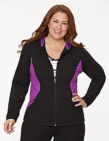 Active performance hoodie with mesh sides