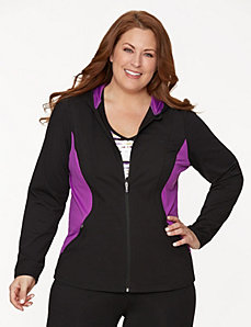 Active hoodie with mesh sides by LANE BRYANT