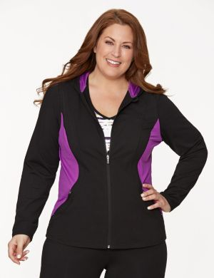 Active hoodie with mesh sides