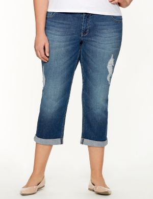 Genius Fit™ Distressed Capri