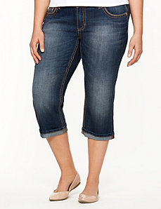 Turned cuff capri by Seven7 by LANE BRYANT
