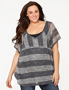Striped hacci top by Seven7 by LANE BRYANT