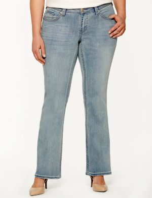 Embroidered slim boot jean by Seven7