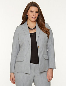 Tie back suit jacket by LANE BRYANT