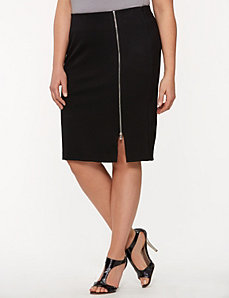 Lane Collection zipped ponte pencil skirt