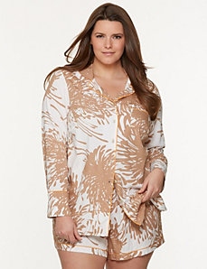 Tru to You palm print PJ set by LANE BRYANT