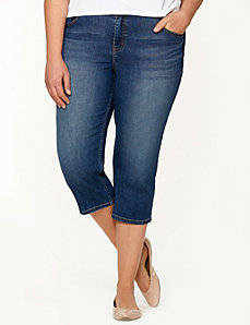 Denim capri with Tighter Tummy Technology