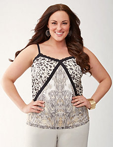Print mix cami by LANE BRYANT