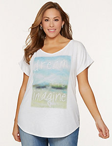 Dreams embellished tee by LANE BRYANT