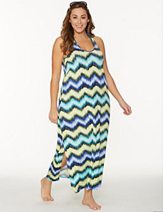 Zig zag maxi dress cover-up by LANE BRYANT
