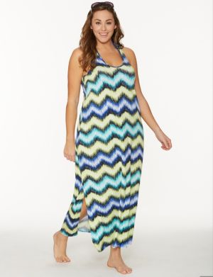 Zig zag maxi dress cover-up
