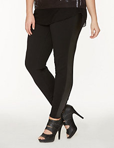Leggings with faux leather seams by DKNY JEANS