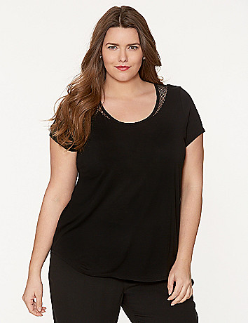 Mesh back tee by DKNY JEANS