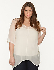 Layered tunic tee by DKNY JEANS