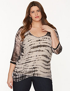 Tie-dye layered tunic tee by DKNY JEANS