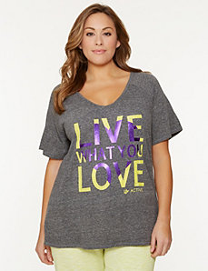 Live What You  Love Tee by LANE BRYANT
