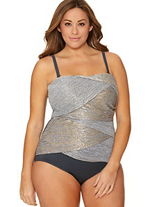 Metallic draped maillot by Miraclesuit�