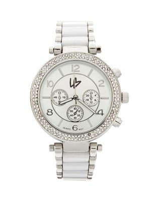 Colored link watch by Lane Bryant