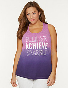 Believe racer back tank