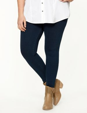 Denim tight ankle legging by Lysse