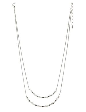 Two row twisted bar necklace by Lane Bryant