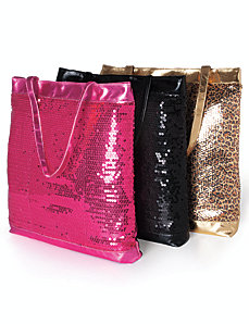 Sequin tote by Lane Bryant