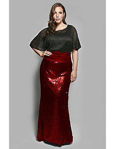 The Gwen Skirt in Matte Sequin by Queen Grace