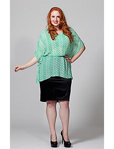 The Suzy Top in Green and White by Queen Grace