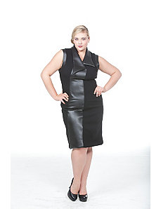 The Grace Dress with Leather Trim by Queen Grace
