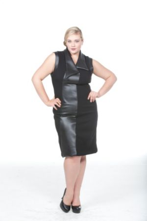 The Grace Dress with Leather Trim