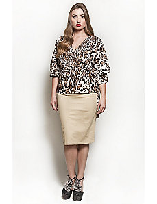 The Annie Blouse in Brown Leopard by Queen Grace