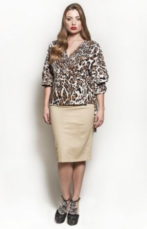 The Annie Blouse in Brown Leopard