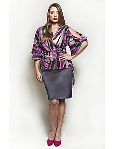 The Annie Blouse in Purple Rain by Queen Grace