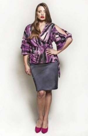 The Annie Blouse in Purple Rain