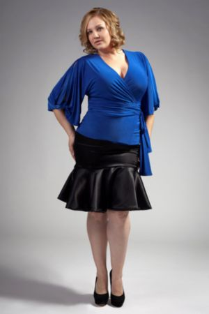 The Annie Blouse in Cobalt Blue