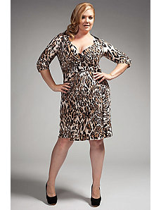 The Serena Dress in Brown Leopard by Queen Grace