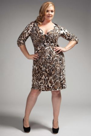 The Serena Dress in Brown Leopard