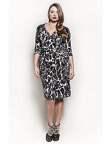 The Serena Dress in Grey Leopard by Queen Grace