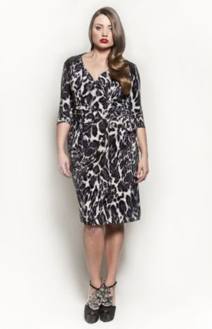 The Serena Dress in Grey Leopard