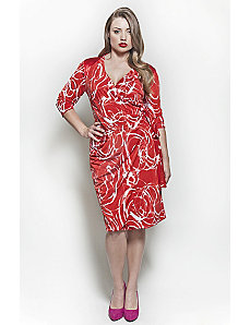 The Serena Dress in Red Swirl by Queen Grace