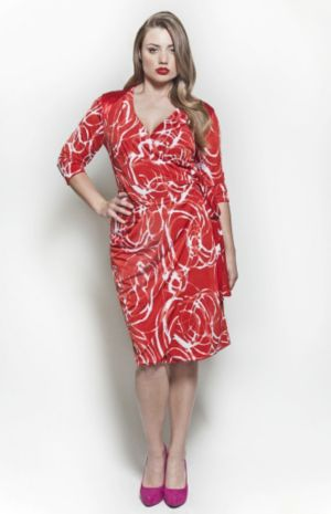 The Serena Dress in Red Swirl